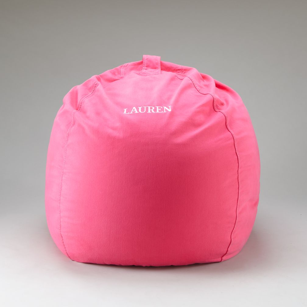 40&quot; Personalized Ginormous Pink Beanbag Cover
