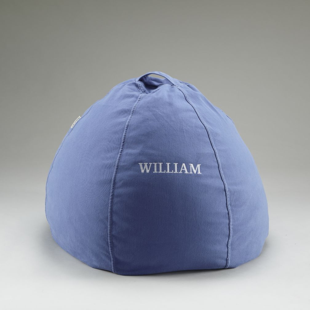 "30"" Blue Personalized Beanbag Cover"