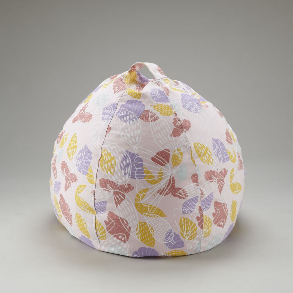 "30"" Strawberry Floral Beanbag Cover"