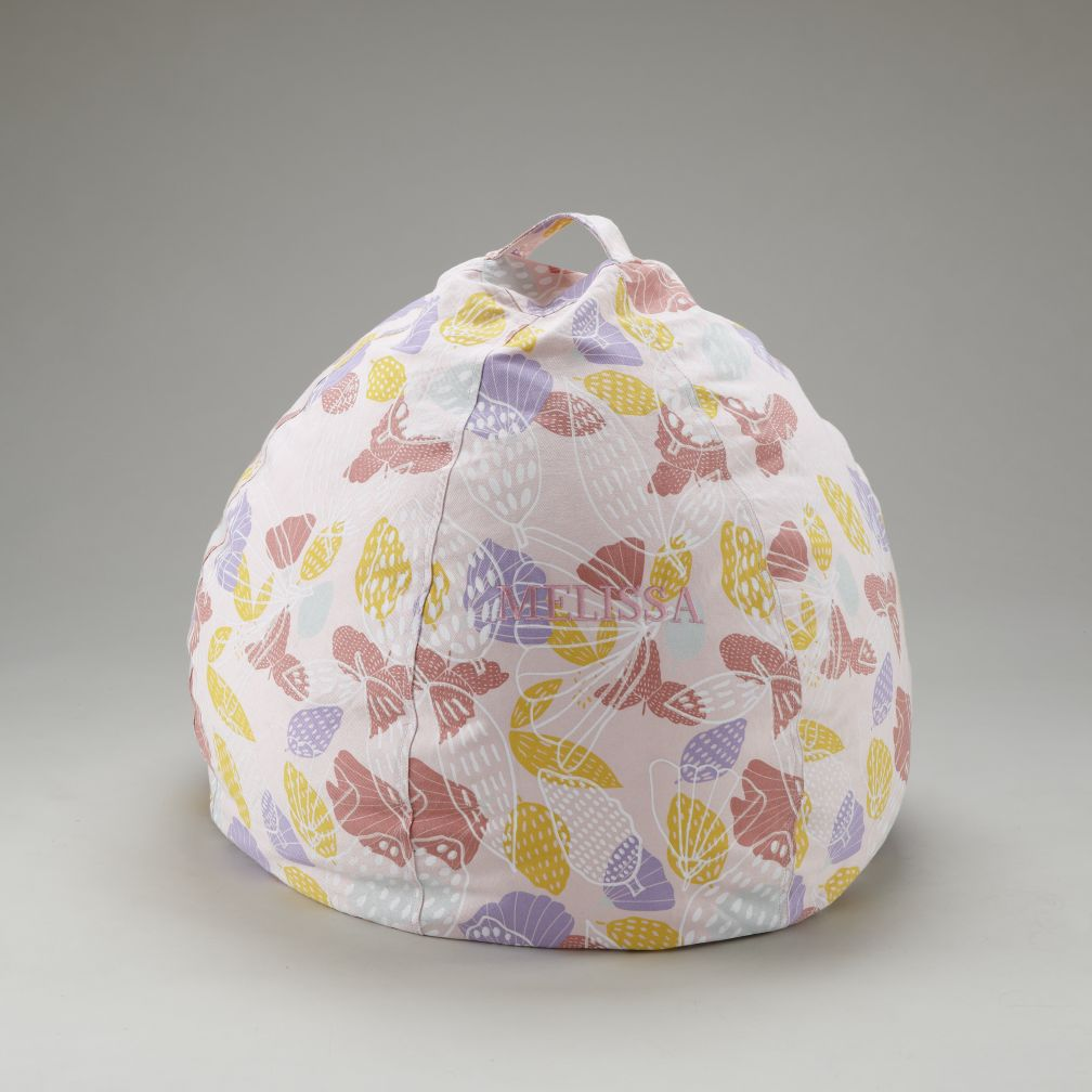 "30""  Personalized Strawberry Floral Bean Bag"