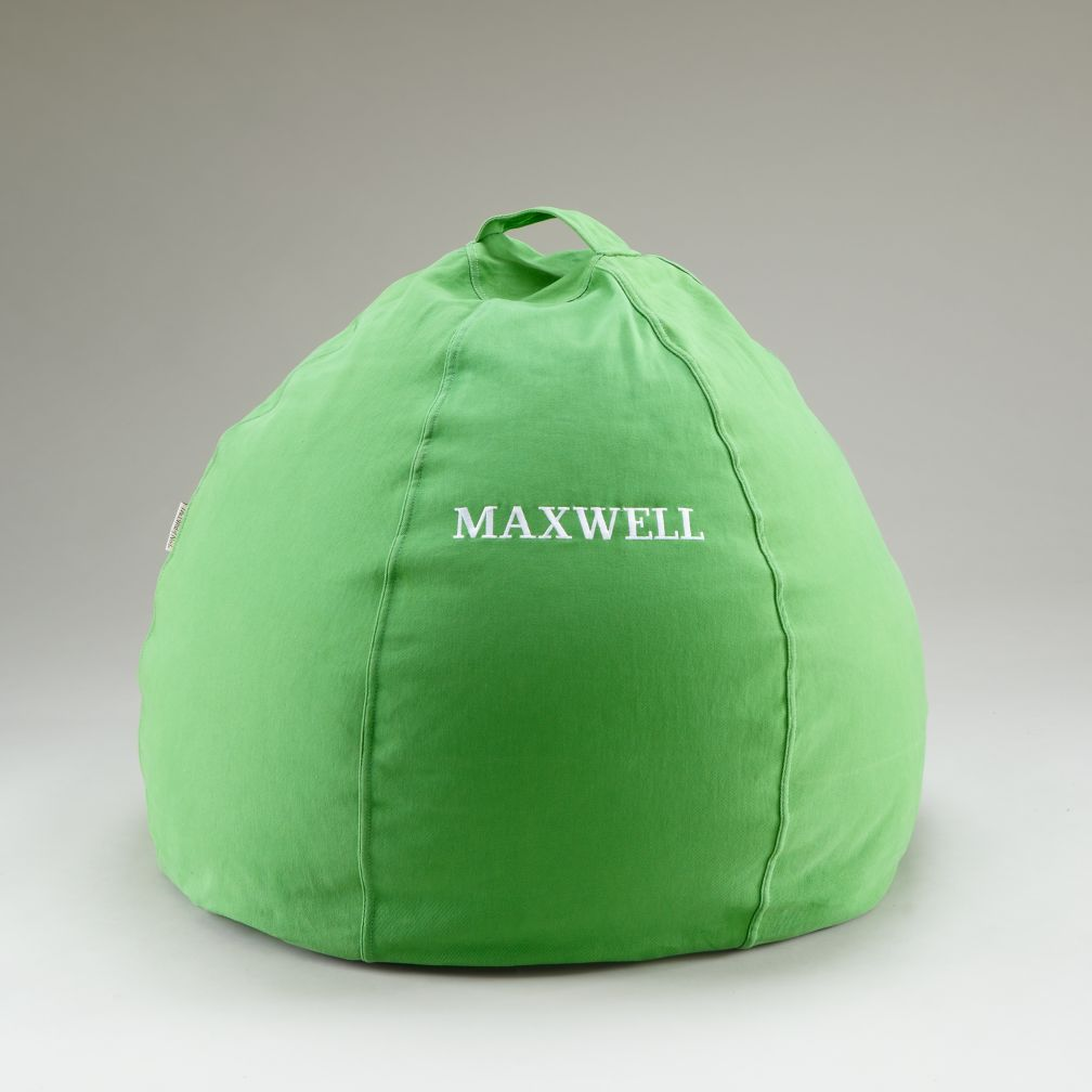 "30"" Green Personalized Beanbag Cover"