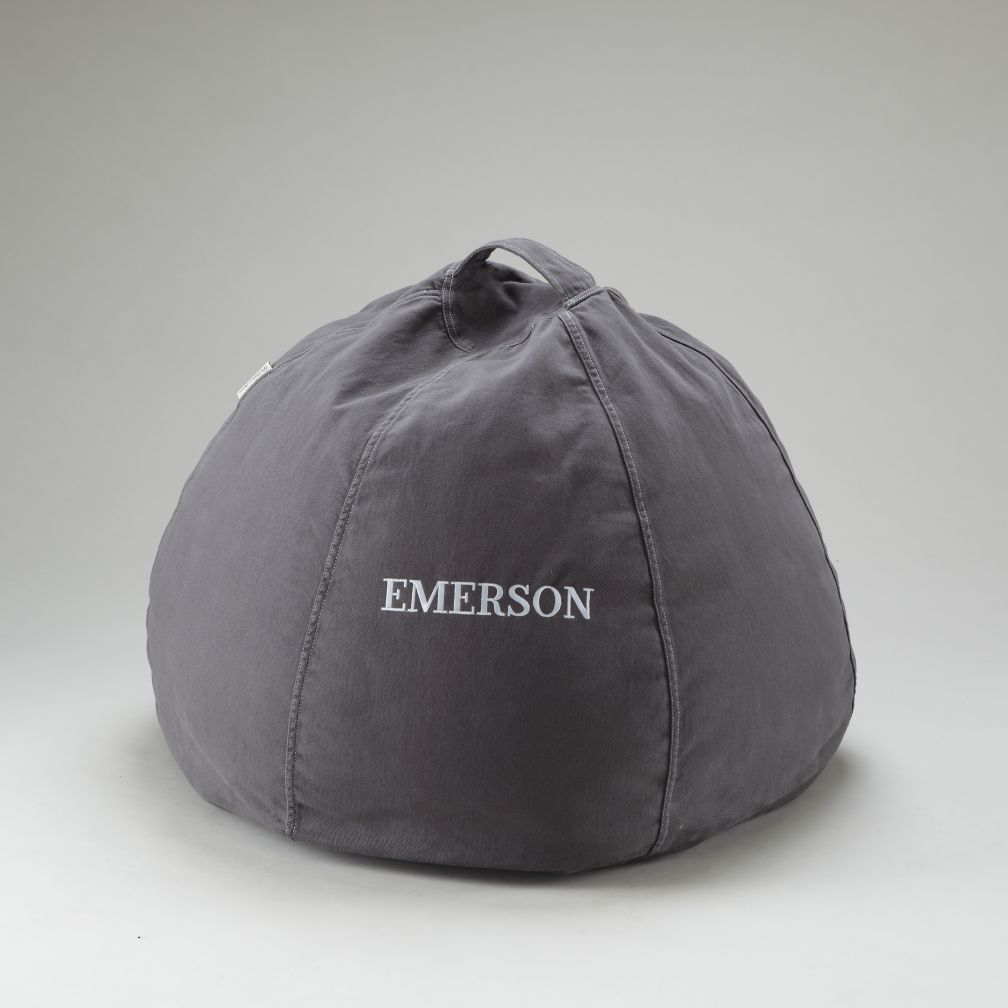 Grey Personalized Beanbag
