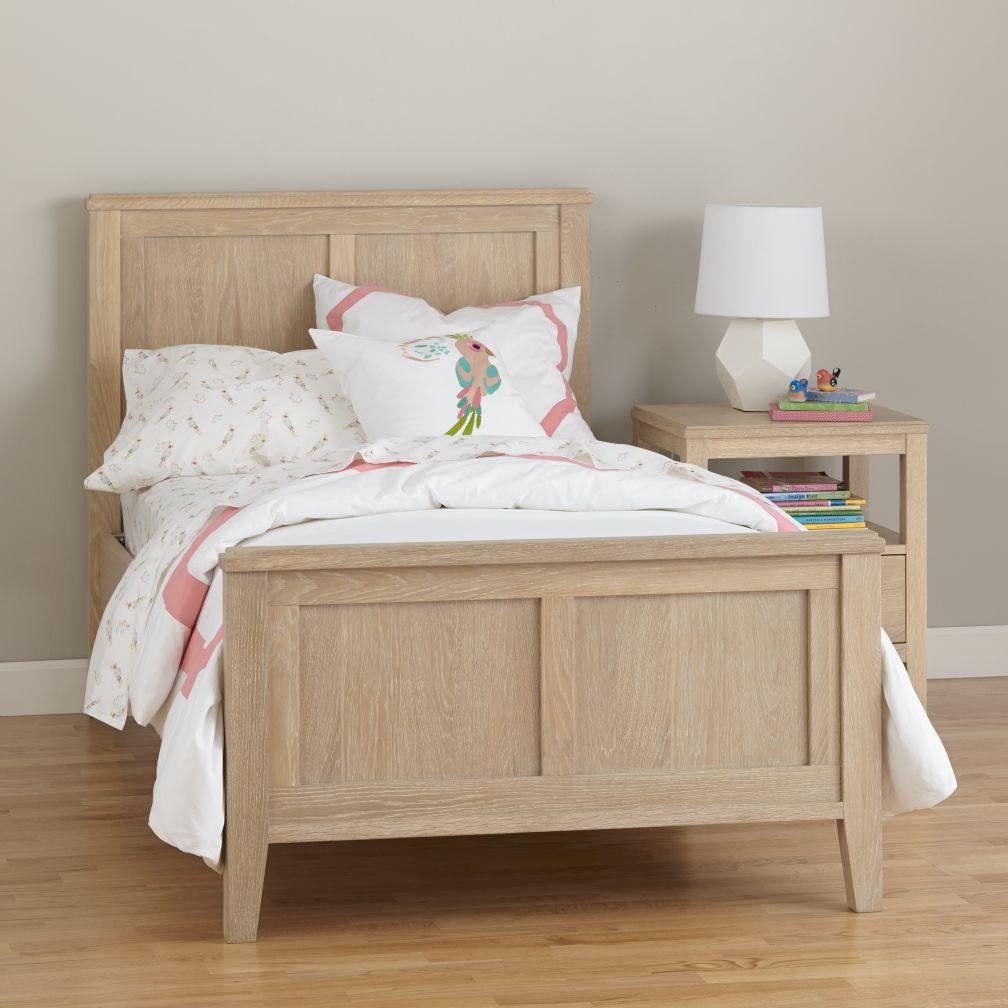 Bayside Panel Bed (Whitewash)