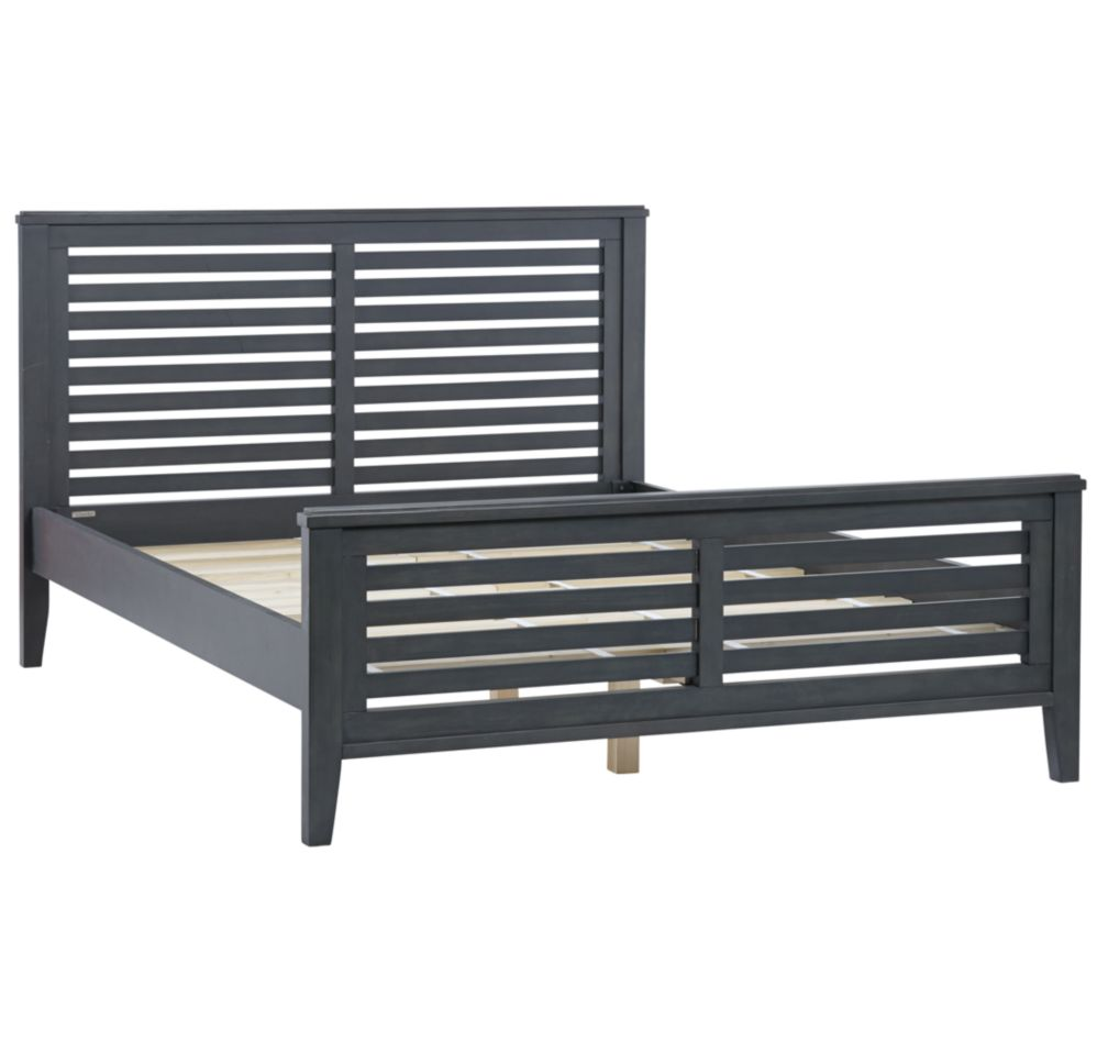 Queen Bayside Slatted  Bed (Denim)