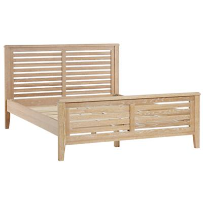 Queen Bayside Slatted Bed (Whitewash)