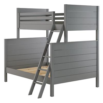 Uptown Twin Over Full Bunk Bed Grey