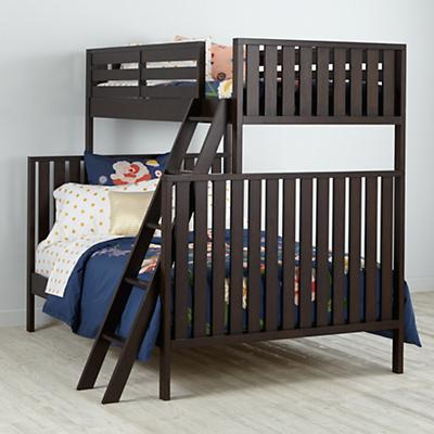 Full Cargo Bed Java The Land Of Nod Twin over Full Cargo Bunk Bed (Java) | The Land of Nod