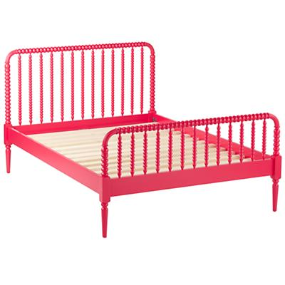 Queen Jenny Lind Bed (Raspberry)