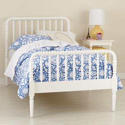 Queen Jenny Lind Bed (White)