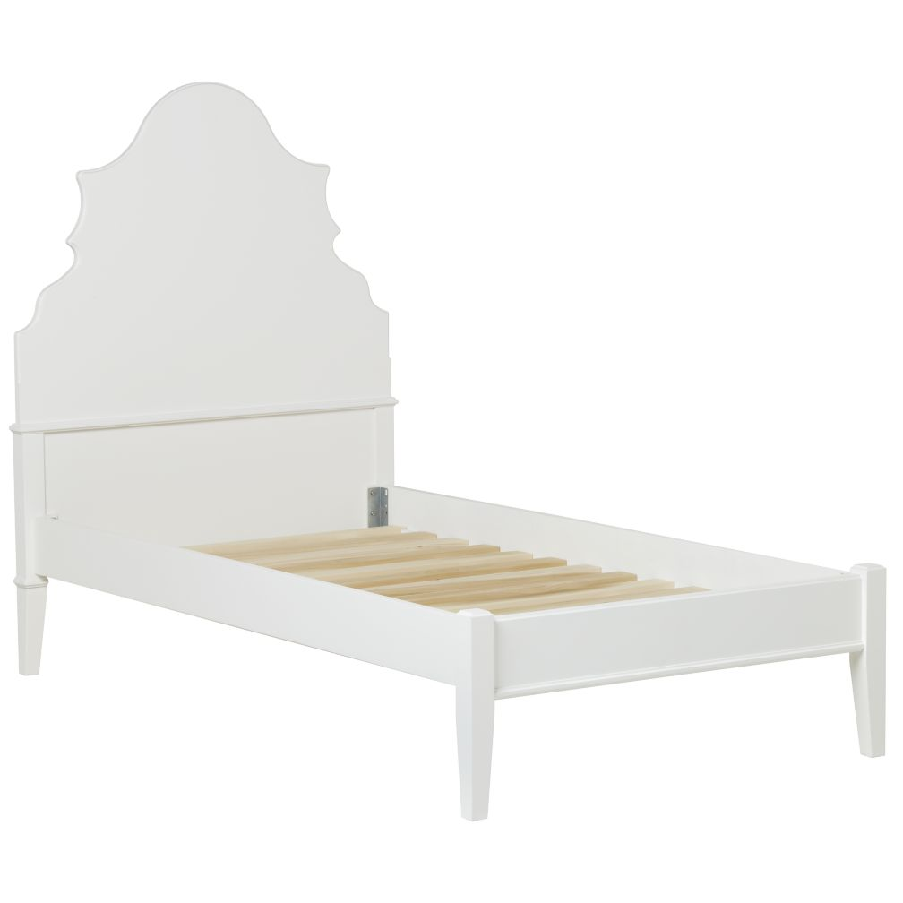 Twin White Monarch Bed