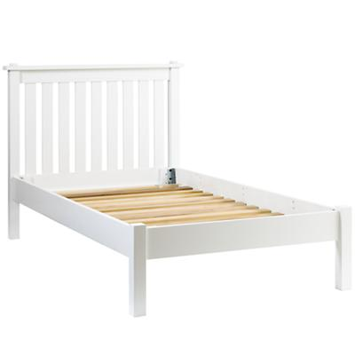 Simple White Twin Bed