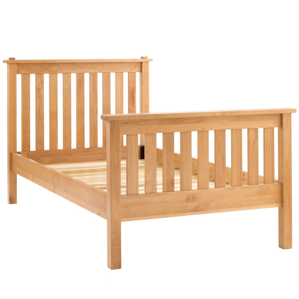 Simple Twin Bed (Natural)