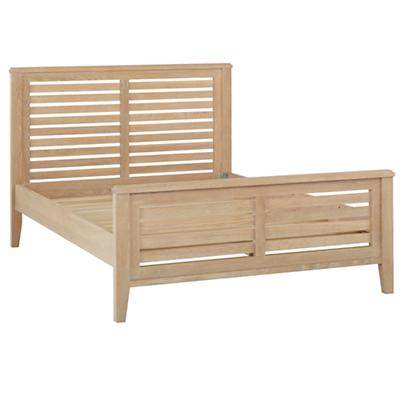 Full Bayside Slatted Bed (Whitewash)