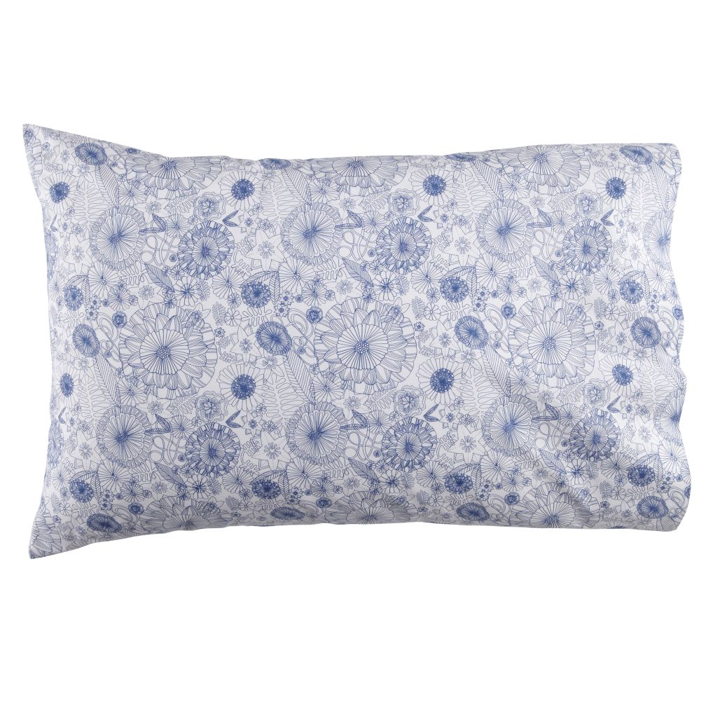 Twelve Bar Blues Floral Pillowcase