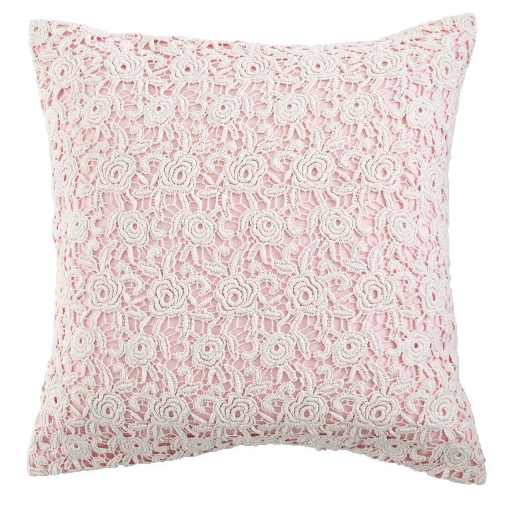 Lace Pillow Cover (Pink)
