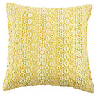 Yellow Lace Throw Pillow Cover