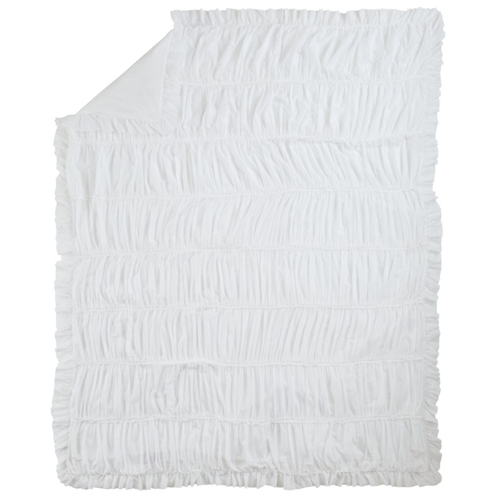 Full-Queen Antique Chic Duvet Cover (White)