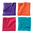 Jewel tone Swaddling Blanket Set: Purple, Orange, Teal, Pink