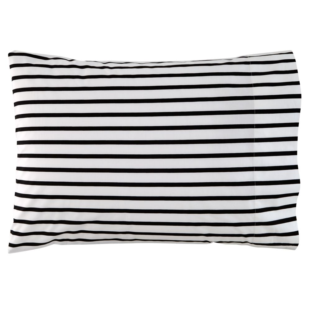 Black Noir Stripe Pillowcase
