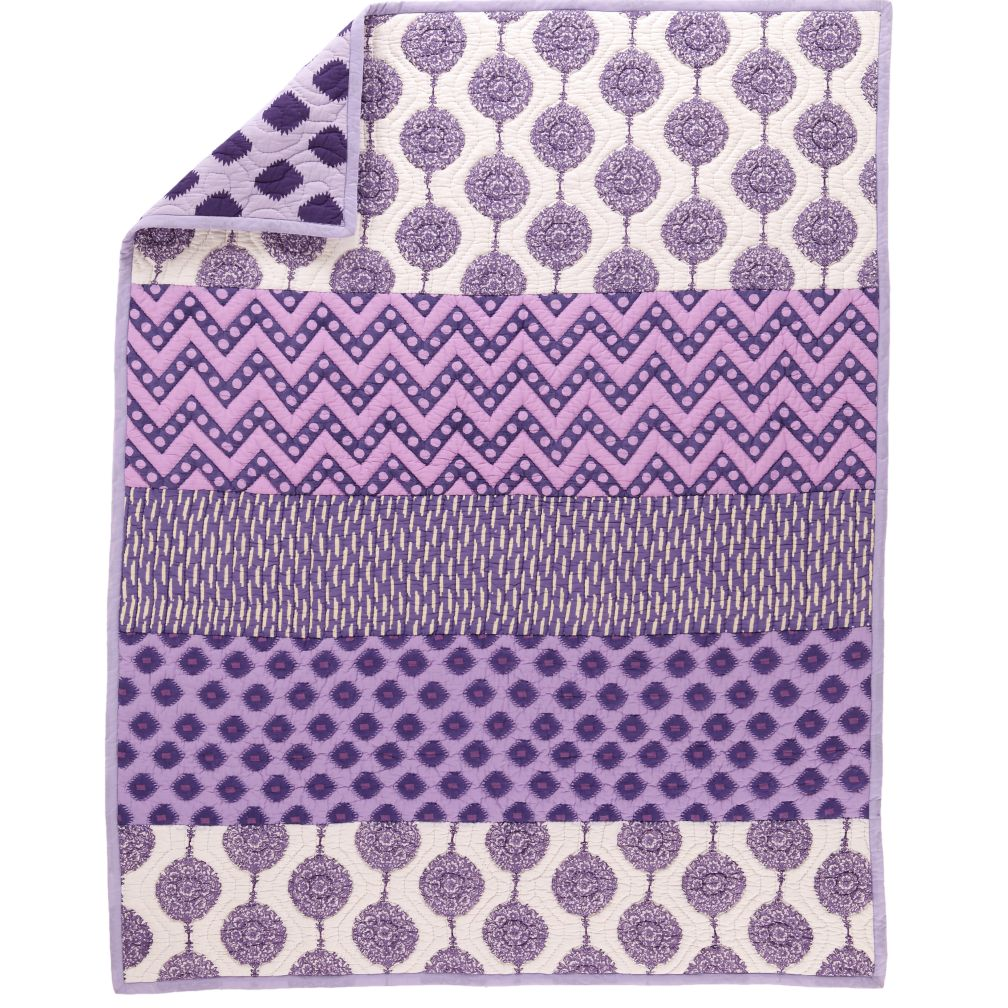 Twin Purple Bazaar Quilt
