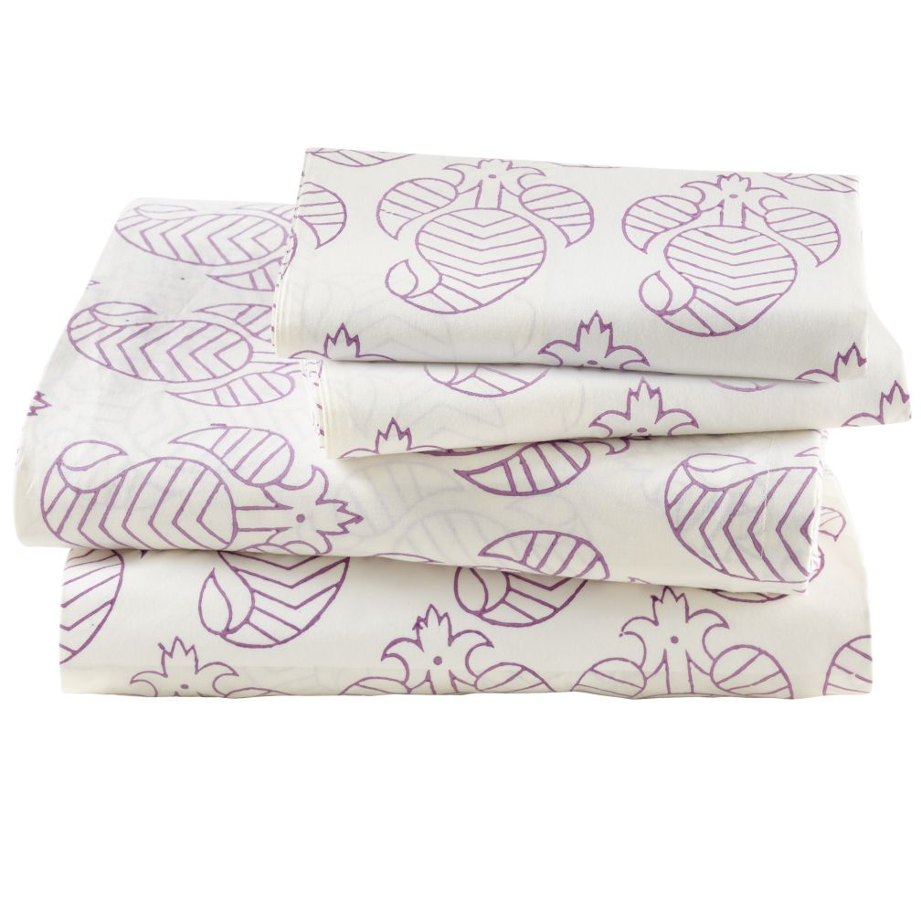 Purple Bazaar Sheet Set (Queen)