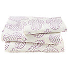 Twin Purple Bazaar Sheet Set(includes 1 fitted sheet, 1 flat sheet and 1 case)
