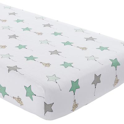 Green Elephant  Crib Fitted Sheet