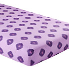 Purple Diamond Print Crib Fitted Sheet