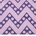 Purple Zig Zag Crib Skirt