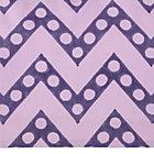 Purple Zig Zag Print Crib Skirt