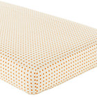 Orange Dot Crib Fitted Sheet