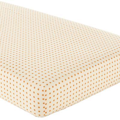 Bright Eyed Crib Fitted Sheet (Orange Dot)
