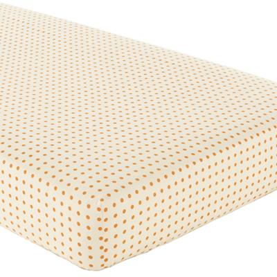 Bright Eyed Crib Fitted Sheet (Orange Dot)
