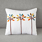 Bright Eyed Trees Throw Pillow