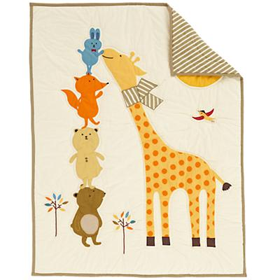Bright Eyed, Bushy Tailed Crib Quilt