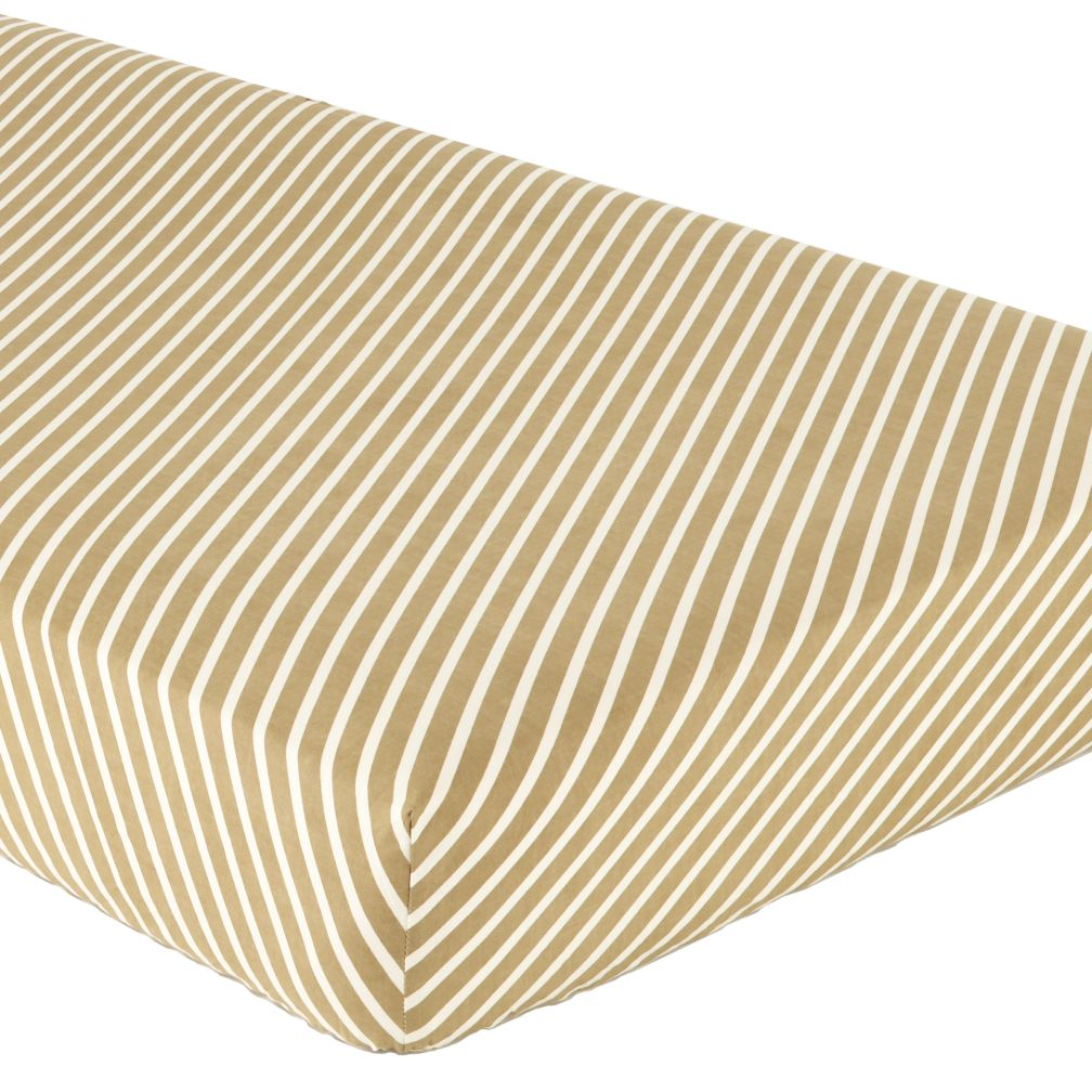 Green Stripe Crib Fitted Sheet
