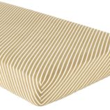 Crib Fitted Sheet (Green Stripe)