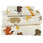 Animal Print Toddler Sheet SetIncludes fitted sheet, flat sheet and one toddler pillowcase