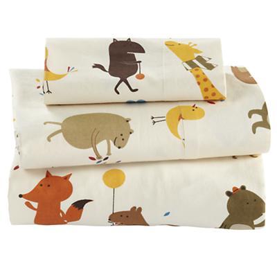 Bright Eyed, Bushy Tailed Toddler Sheet Set
