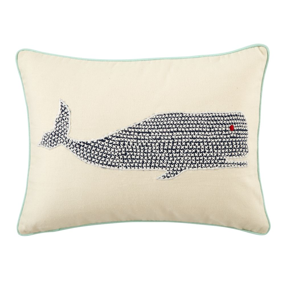 Whale Throw Pillow Cover