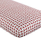 Red Lobster Print Fitted Crib Sheet