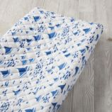 Regatta Changing Pad Cover (Blue Sailboat)