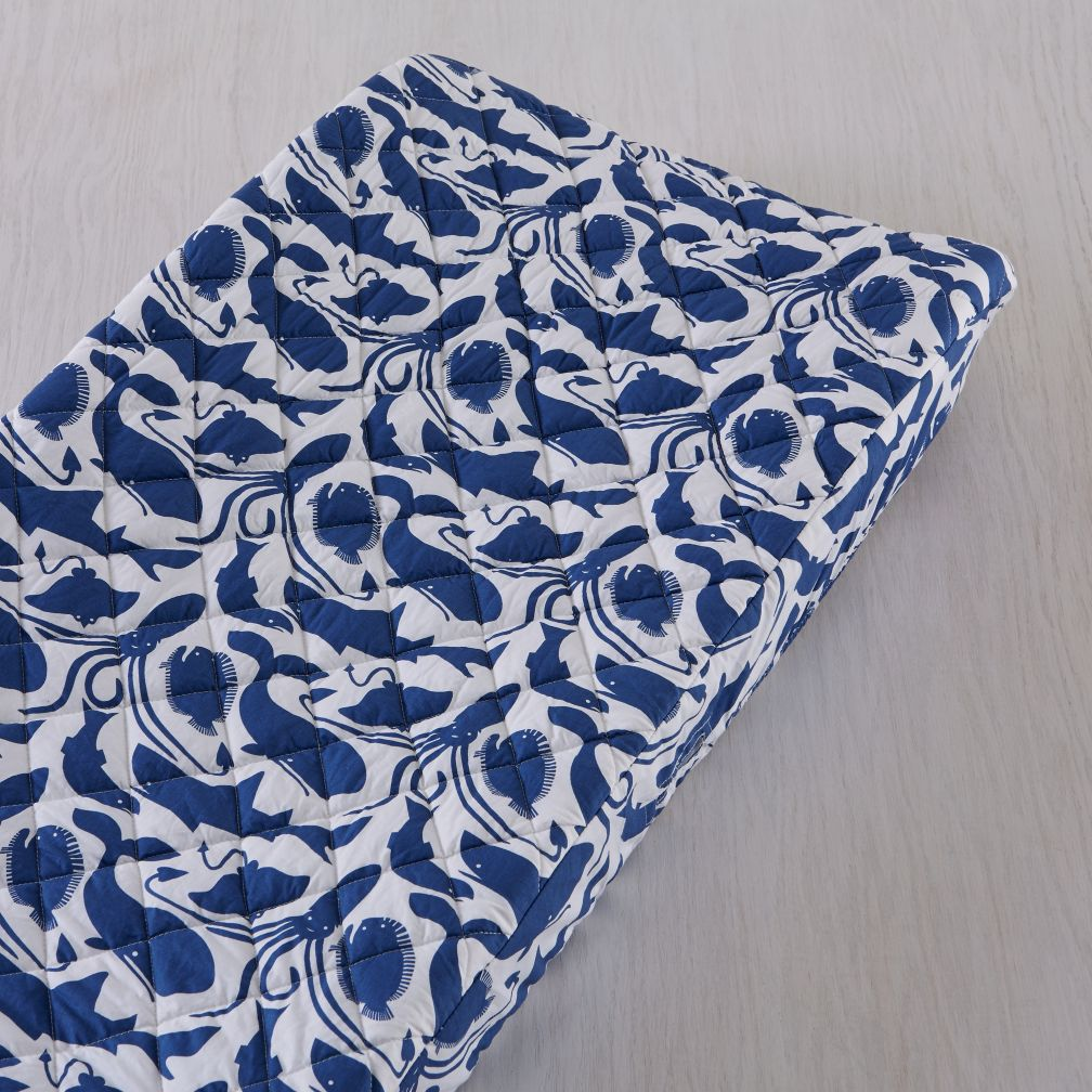 Deep Blue Changing Pad Cover