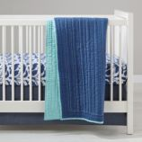 Deep Blue Baby Bedding