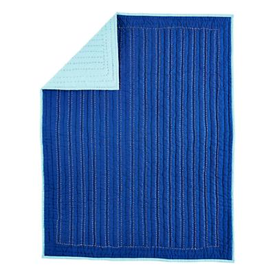 Deep Blue Baby Quilt