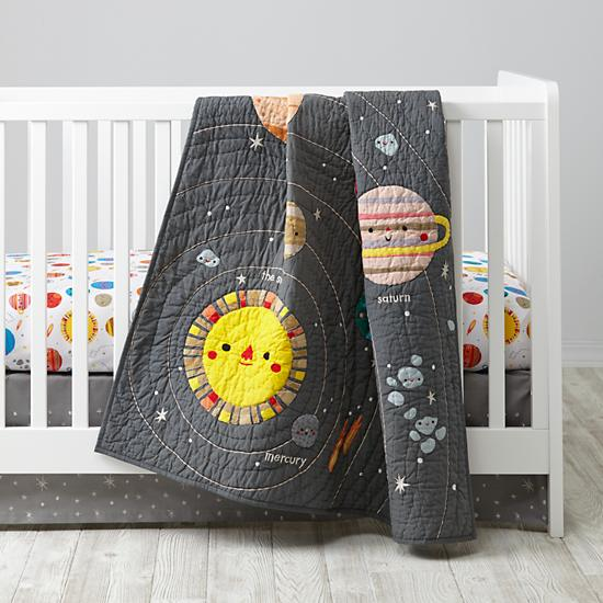 Deep Space Crib Bedding | The Land of Nod