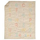 Natural Linen Alphabet Crib Quilt