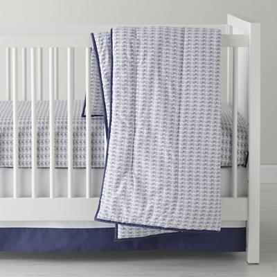 Fine Prints Crib Bedding (Blue Fish)