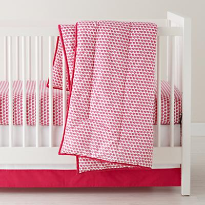 Fine Prints Crib Bedding (Pink Hearts)