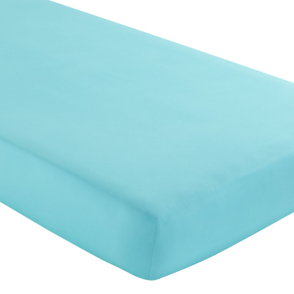 Crib Fitted Sheet (Solid Aqua)